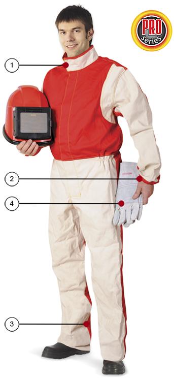 Ochranný oblek pro pískování - látkový