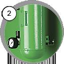 Injektorová tryskací kabina eco SL - detail