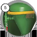 tlaková pískovací kabina cab - detal