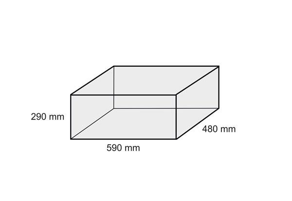 rozměry pískovacího boxu stolního